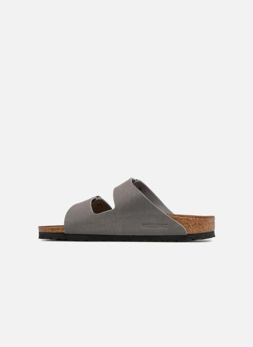 Sandales et nu-pieds Birkenstock Arizona Flor M Gris vue face
