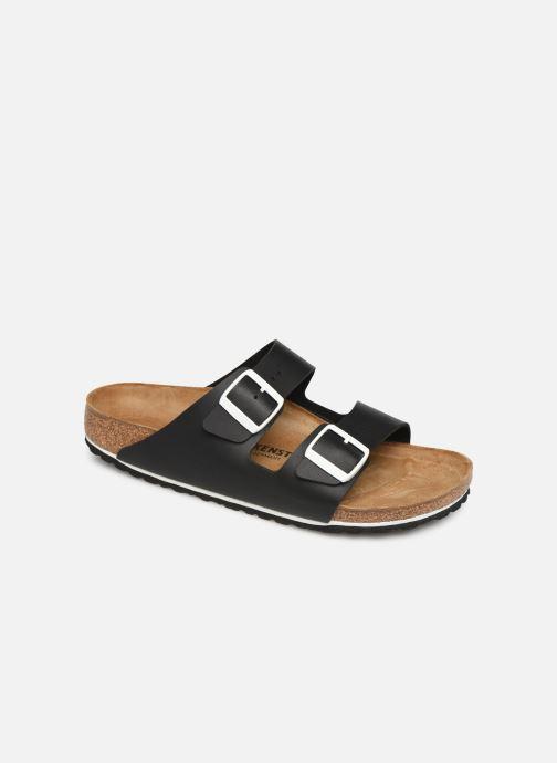 Sandales et nu-pieds Birkenstock Arizona Flor M Noir vue détail/paire