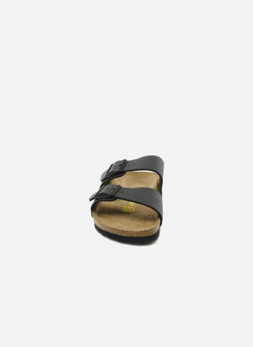 Sandalen Birkenstock Arizona Flor M schwarz schuhe getragen