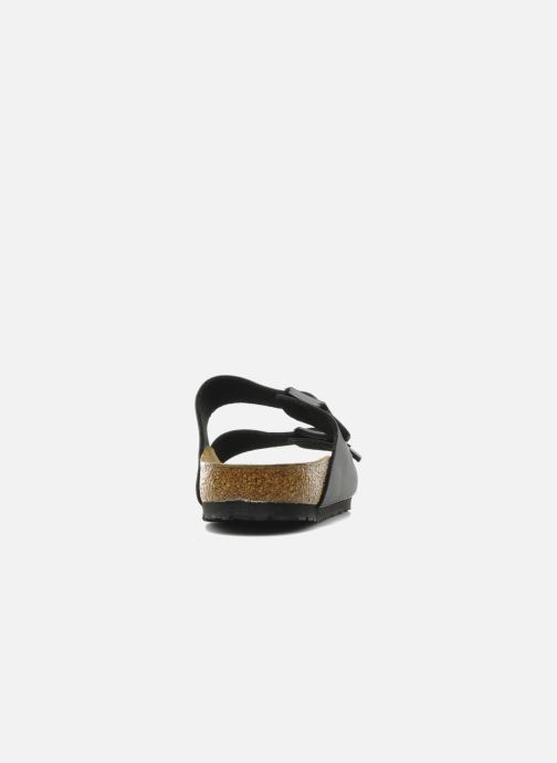 Sandals Birkenstock Arizona Flor M Black view from the right
