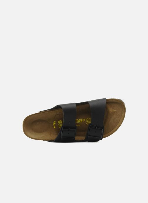 Sandales et nu-pieds Birkenstock Arizona Flor M Noir vue gauche