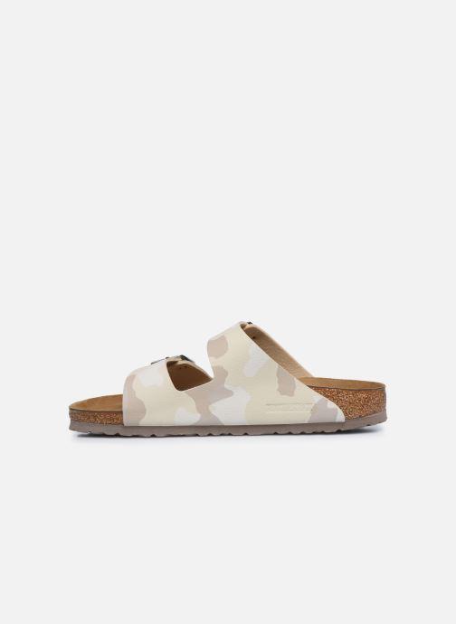 Sandales et nu-pieds Birkenstock Arizona Flor M Blanc vue face