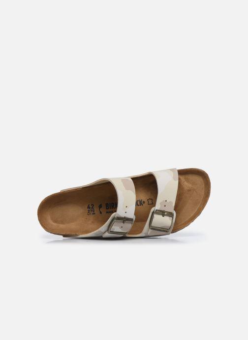 Sandales et nu-pieds Birkenstock Arizona Flor M Blanc vue gauche