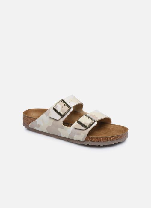 Sandales et nu-pieds Birkenstock Arizona Flor M Blanc vue détail/paire