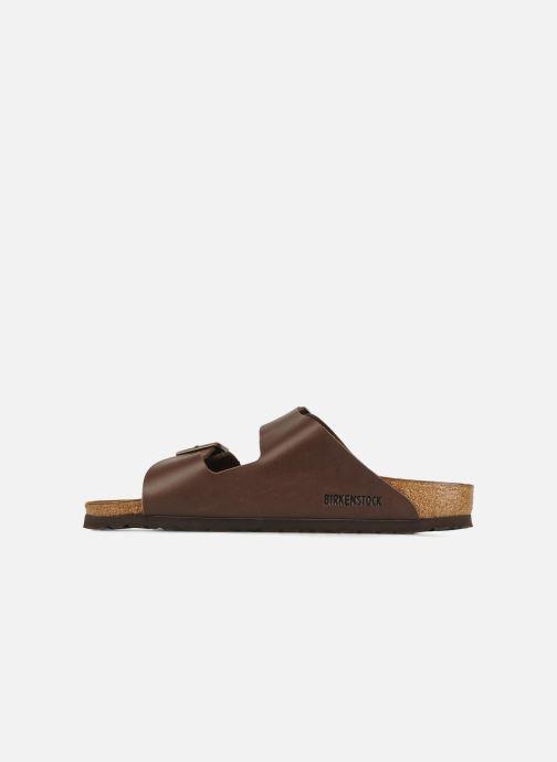 Sandales et nu-pieds Birkenstock Arizona Flor M Marron vue face