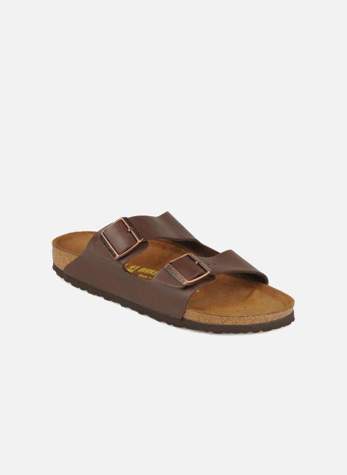Sandales et nu-pieds Birkenstock Arizona Flor M Marron vue détail/paire