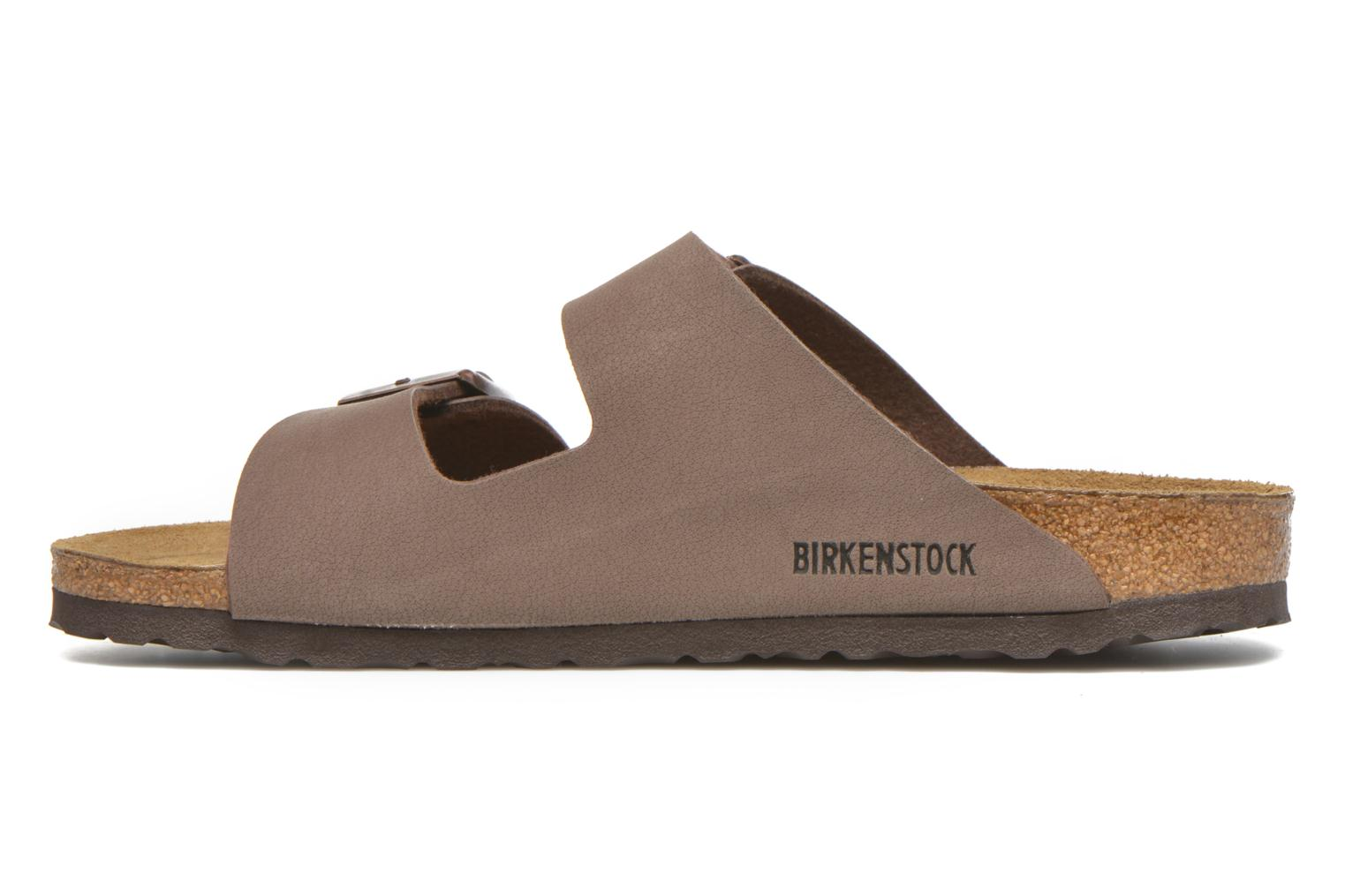 Sandals Birkenstock Arizona Flor M Brown front view