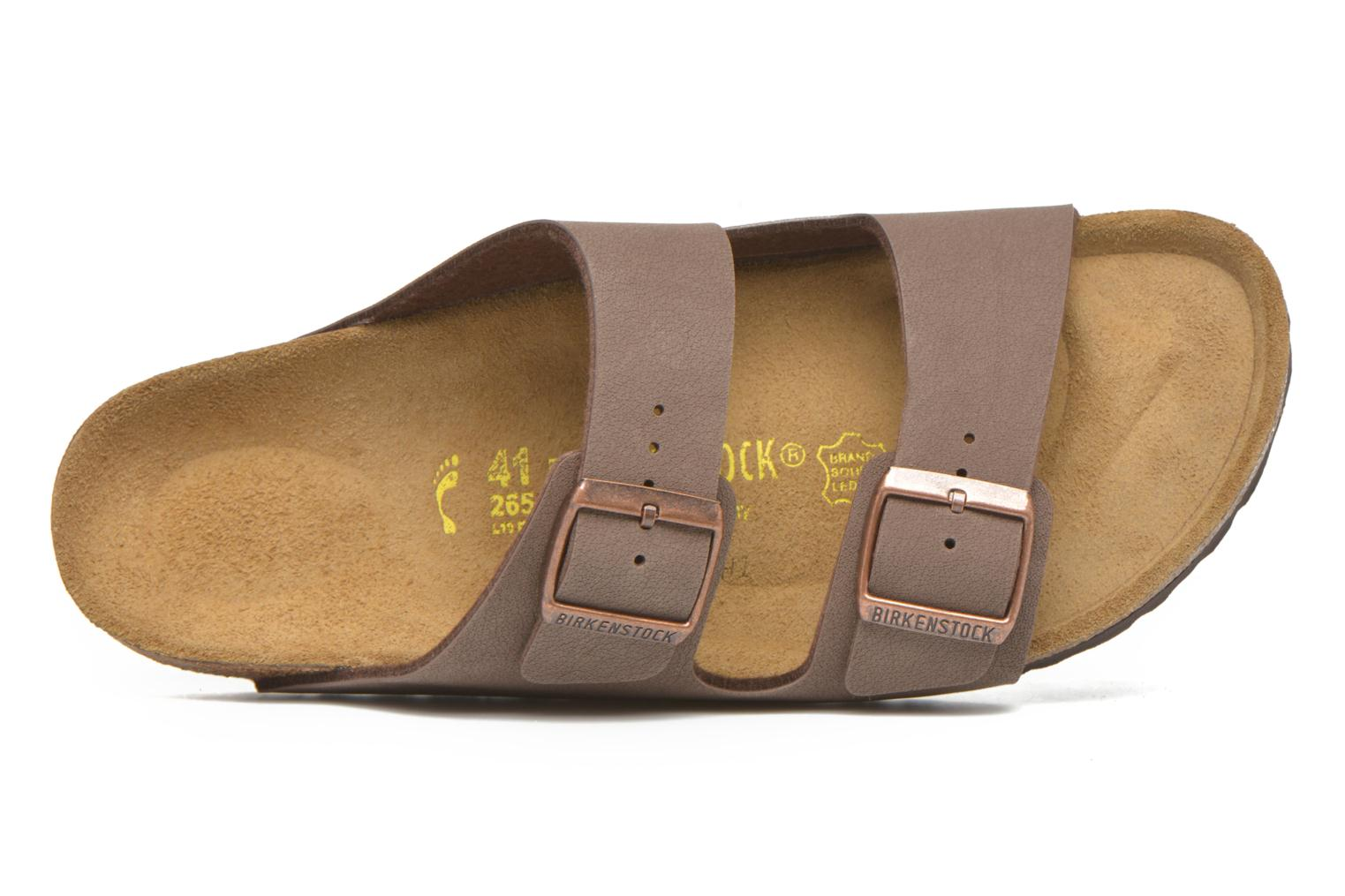 Sandals Birkenstock Arizona Flor M Brown view from the left