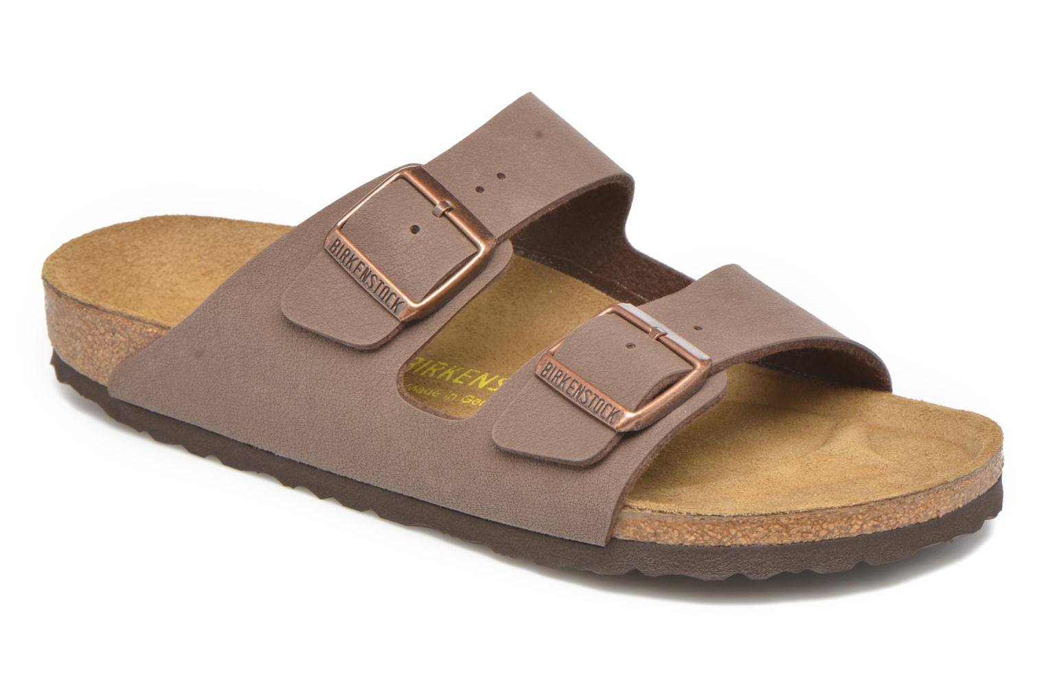 Sandals Birkenstock Arizona Flor M Brown detailed view/ Pair view
