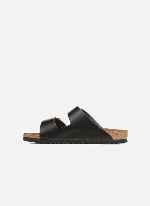 Sandalen Birkenstock Arizona Cuir M Zwart voorkant