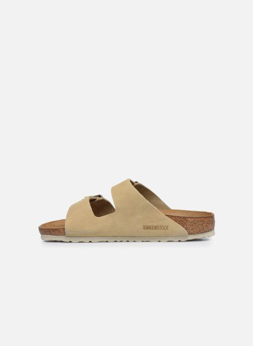 Sandales et nu-pieds Birkenstock Arizona Cuir M Beige vue face