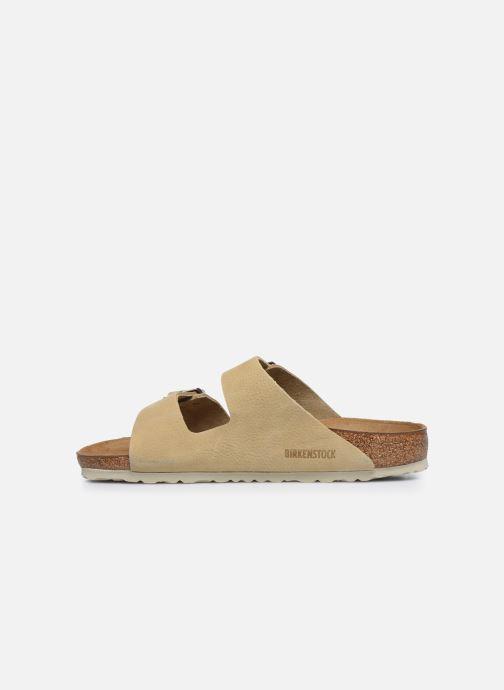 Sandali e scarpe aperte Birkenstock Arizona Cuir M Beige immagine frontale