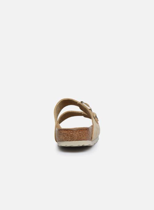 Sandales et nu-pieds Birkenstock Arizona Cuir M Beige vue droite