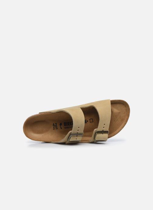 Sandales et nu-pieds Birkenstock Arizona Cuir M Beige vue gauche