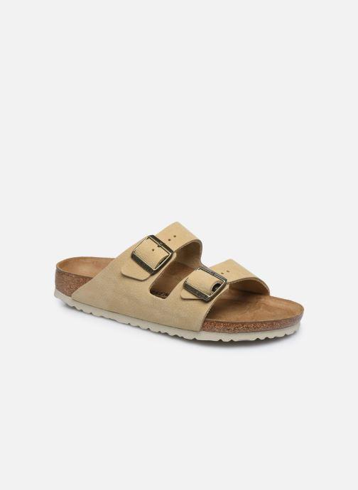 Sandales et nu-pieds Birkenstock Arizona Cuir M Beige vue détail/paire