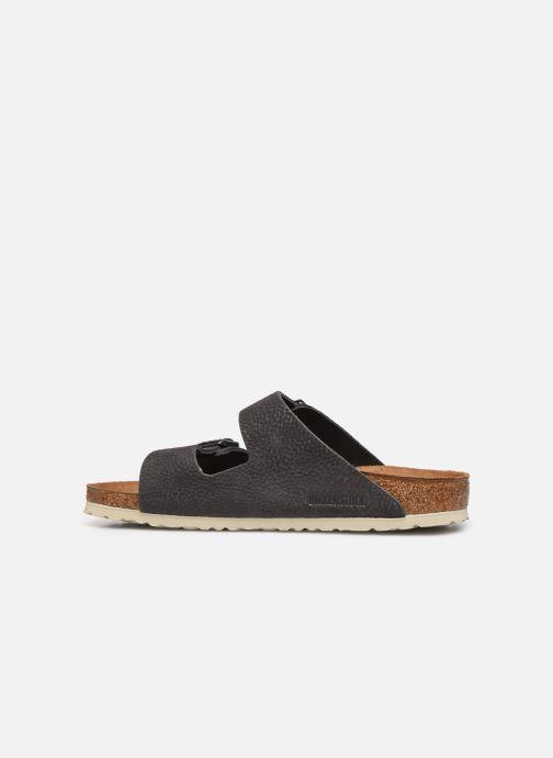 Sandali e scarpe aperte Birkenstock Arizona Cuir M Grigio immagine frontale