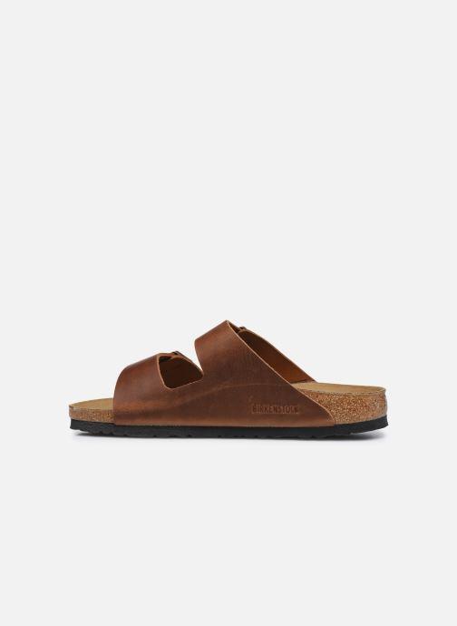 Sandali e scarpe aperte Birkenstock Arizona Cuir M Marrone immagine frontale