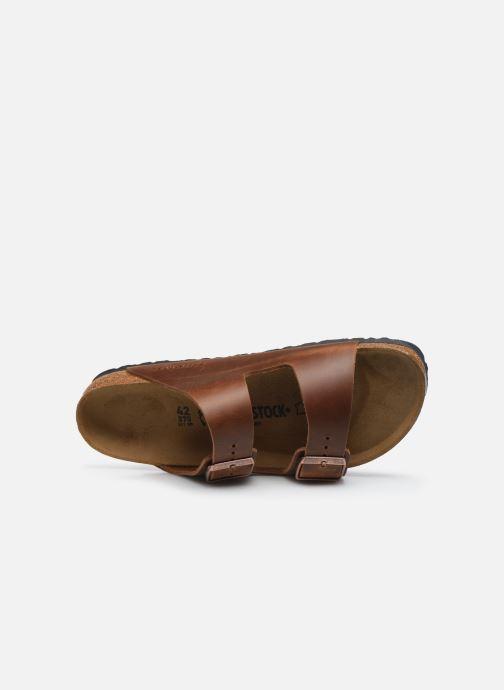Sandali e scarpe aperte Birkenstock Arizona Cuir M Marrone immagine sinistra