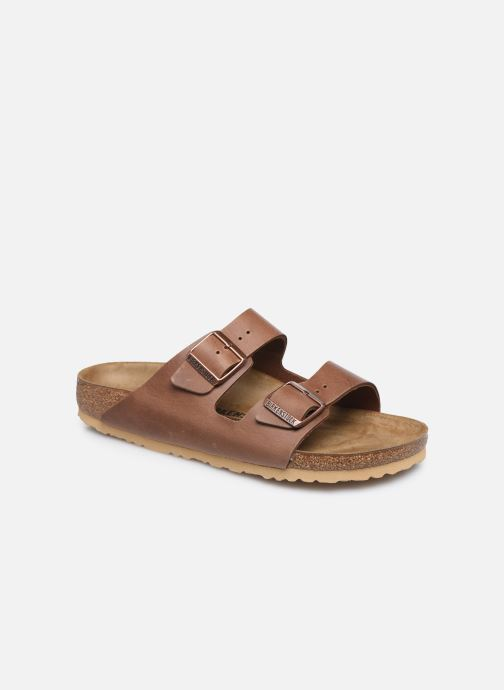 Sandales et nu-pieds Birkenstock Arizona Cuir M Marron vue détail/paire