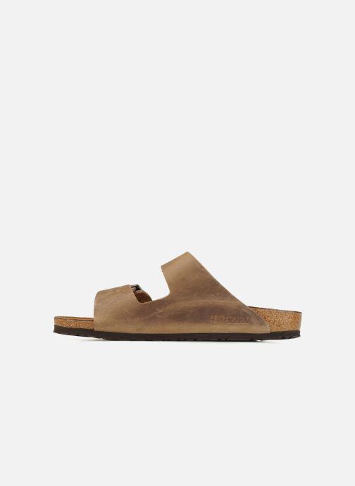 Sandales et nu-pieds Birkenstock Arizona Cuir M Marron vue face