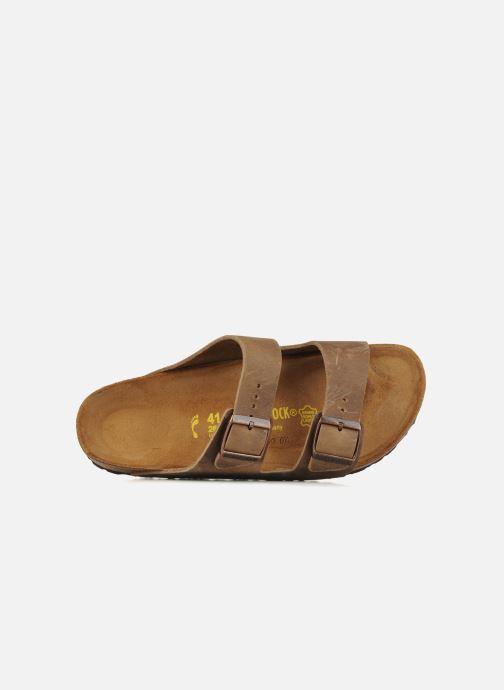 Sandales et nu-pieds Birkenstock Arizona Cuir M Marron vue gauche
