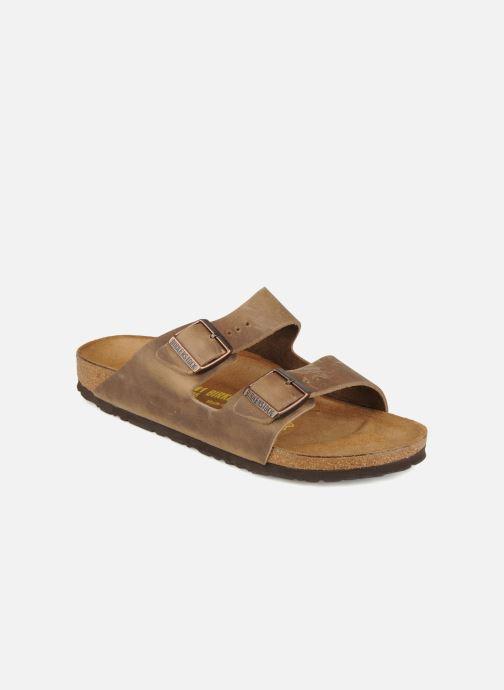 Sandals Birkenstock Arizona Cuir M Brown detailed view/ Pair view
