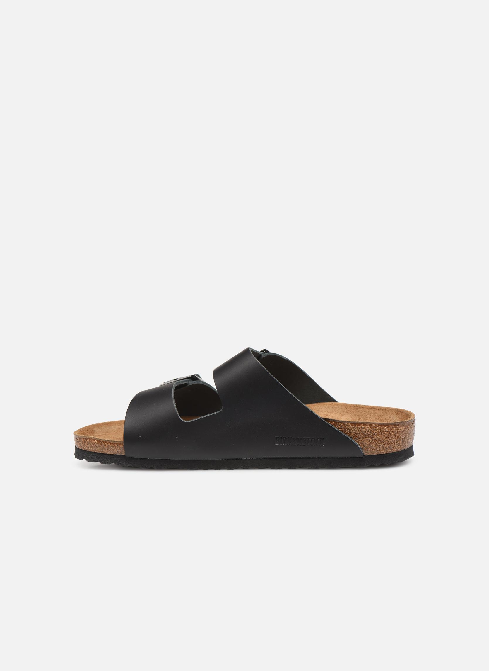 Sandalen Birkenstock Arizona Cuir M schwarz ansicht von vorne