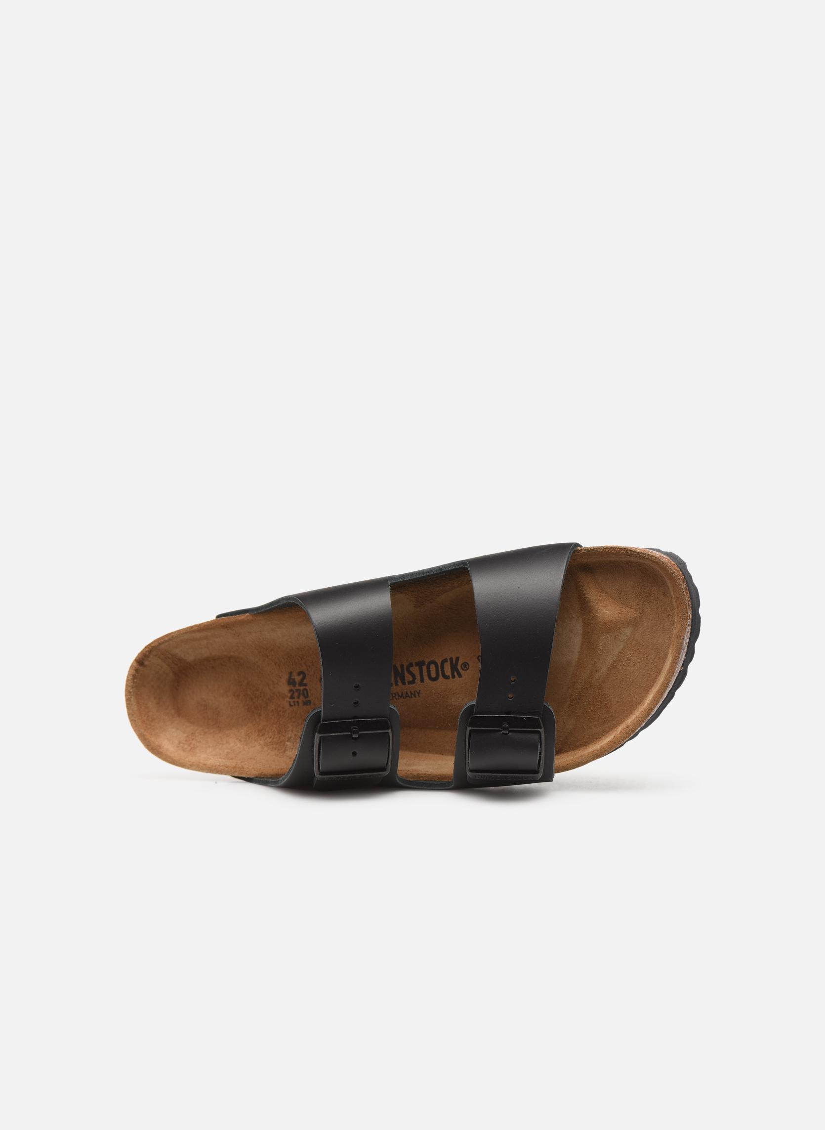 Sandalen Birkenstock Arizona Cuir M schwarz ansicht von links