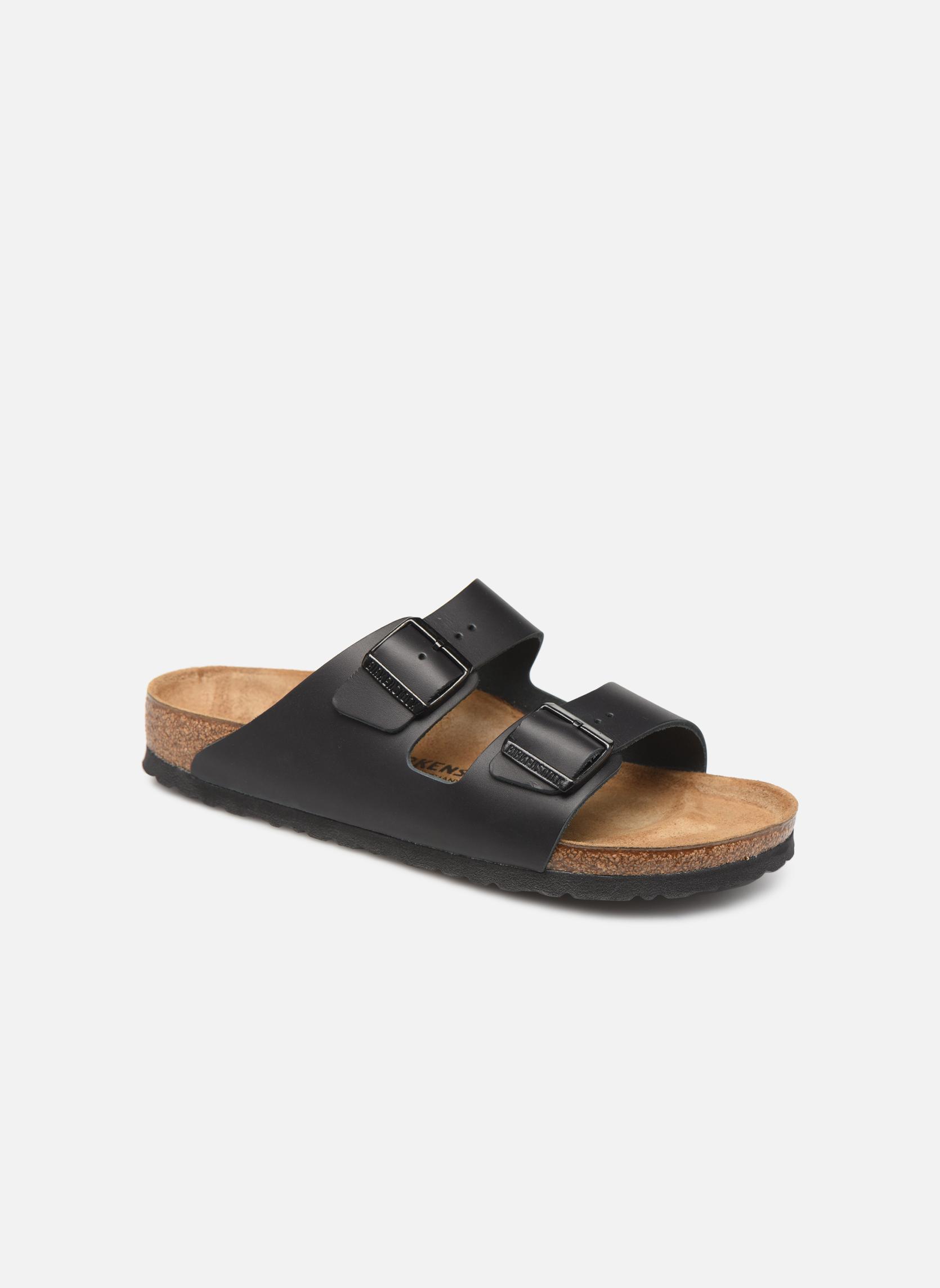 Sandalen Birkenstock Arizona Cuir M schwarz detaillierte ansicht/modell
