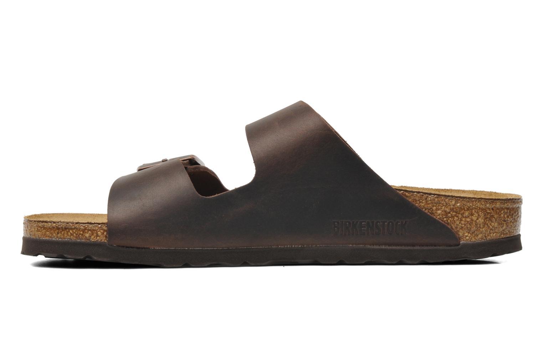 Sandals Birkenstock Arizona Cuir M Brown front view