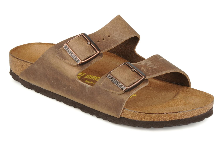 Sandalen Birkenstock Arizona Cuir M braun detaillierte ansicht/modell