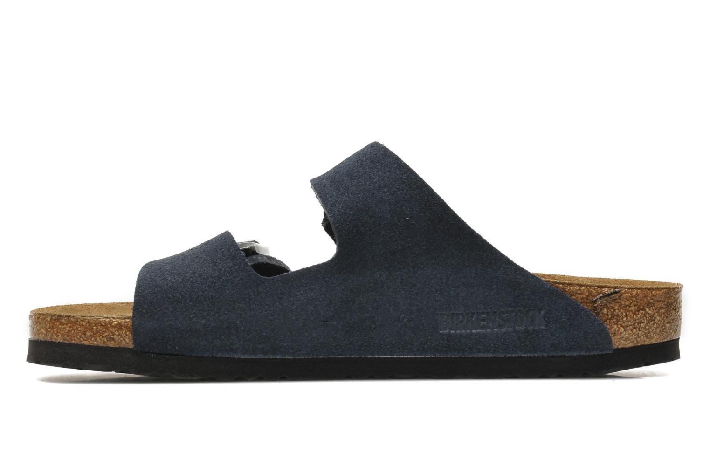Sandales et nu-pieds Birkenstock Arizona Velours M Bleu vue face