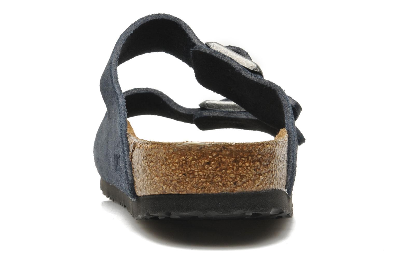 Sandales et nu-pieds Birkenstock Arizona Velours M Bleu vue droite