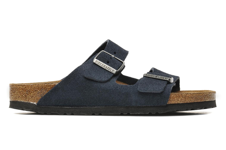 Sandales et nu-pieds Birkenstock Arizona Velours M Bleu vue derrière