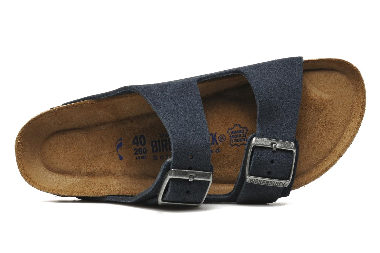 Sandales et nu-pieds Birkenstock Arizona Velours M Bleu vue gauche
