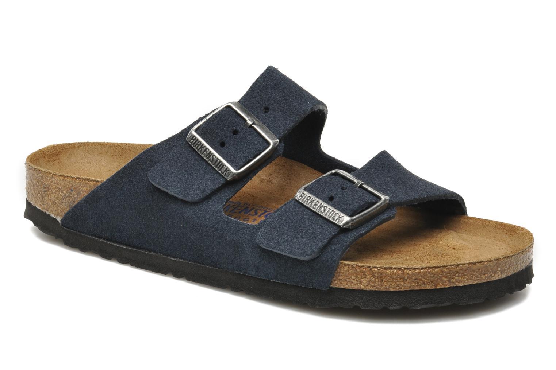 Sandales et nu-pieds Birkenstock Arizona Velours M Bleu vue détail/paire