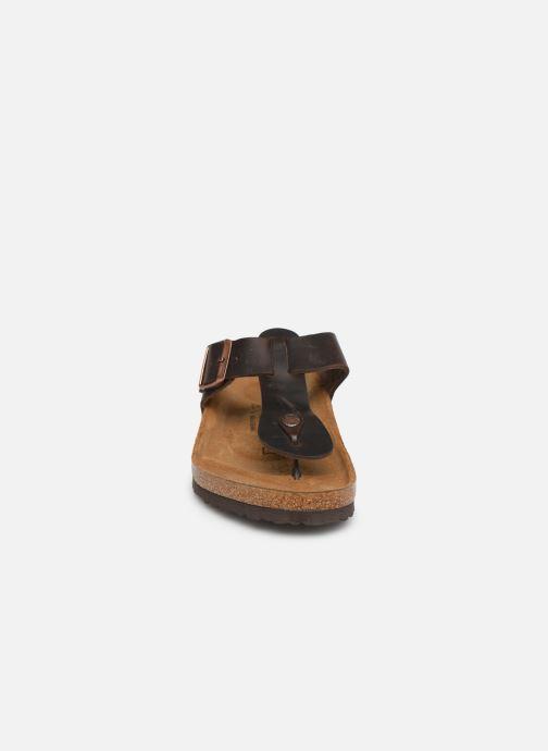Flip flops Birkenstock Medina Cuir M Brun bild av skorna på