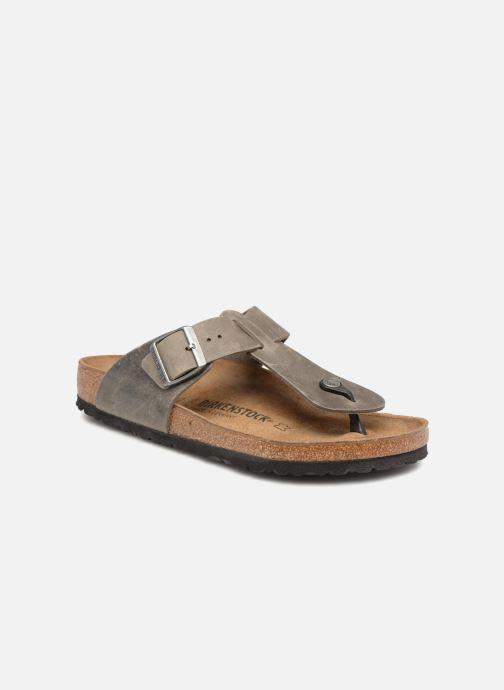 Birkenstock Medina Cuir M (Grijs) Slippers chez Sarenza