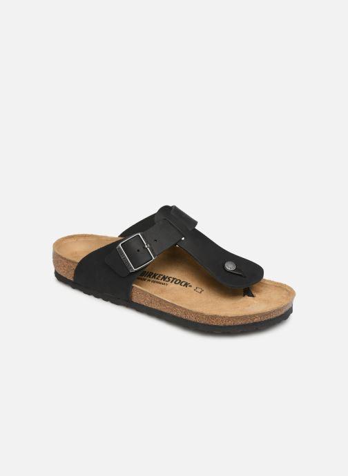 Flip flops Birkenstock Medina Cuir M Black detailed view/ Pair view