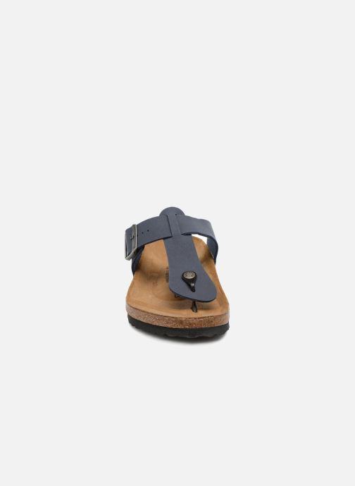 Tongs Birkenstock Medina Flor M Bleu vue portées chaussures