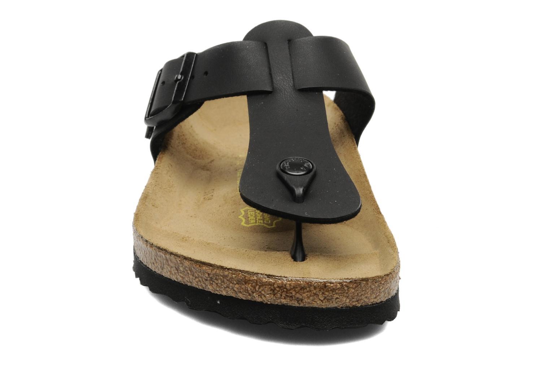 Tongs Birkenstock Medina Flor M Noir vue portées chaussures