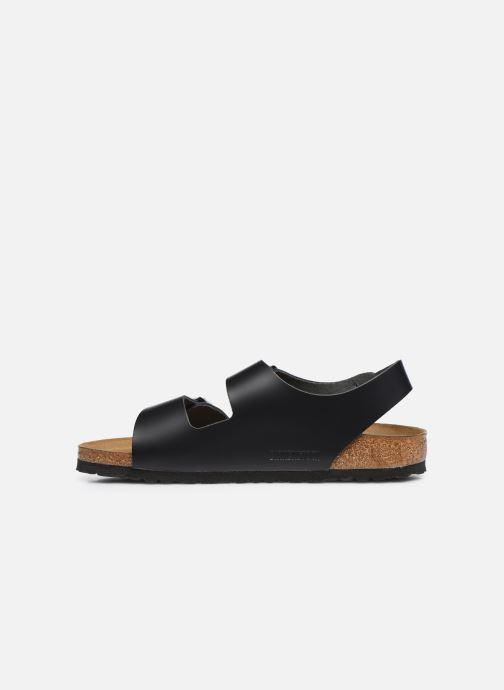 Sandales et nu-pieds Birkenstock Milano Cuir M Noir vue face