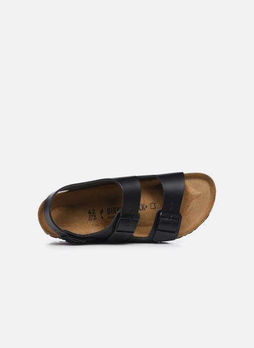 Sandales et nu-pieds Birkenstock Milano Cuir M Noir vue gauche