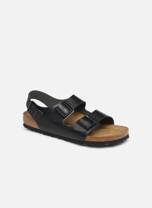 Sandales et nu-pieds Birkenstock Milano Cuir M Noir vue détail/paire