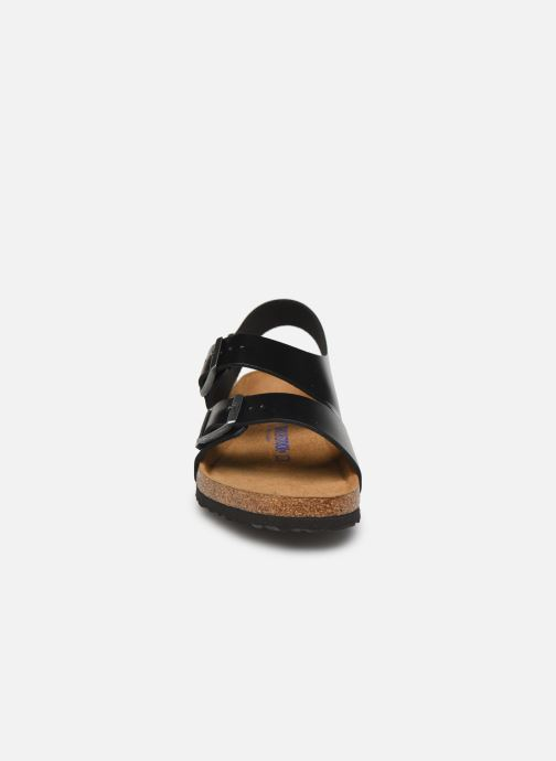 Sandals Birkenstock Milano Cuir M Black model view