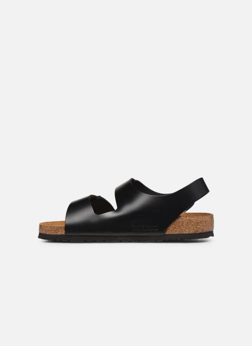 Sandals Birkenstock Milano Cuir M Black front view
