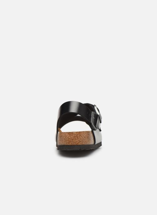Sandals Birkenstock Milano Cuir M Black view from the right