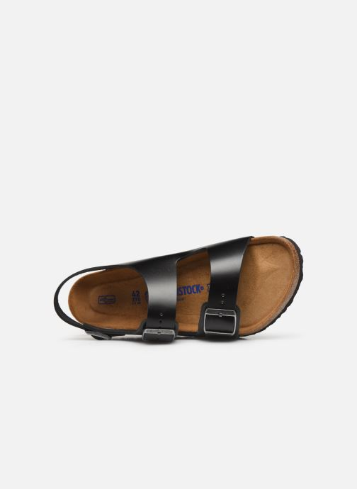 Sandals Birkenstock Milano Cuir M Black view from the left