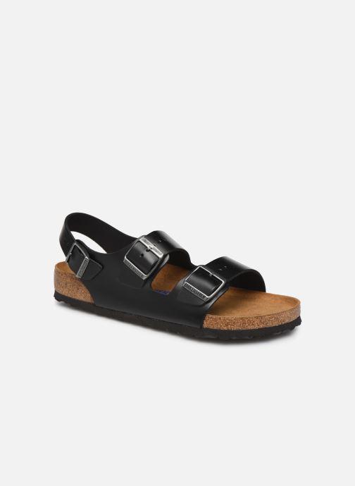 Sandals Birkenstock Milano Cuir M Black detailed view/ Pair view