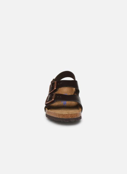 Sandals Birkenstock Milano Cuir M Brown model view
